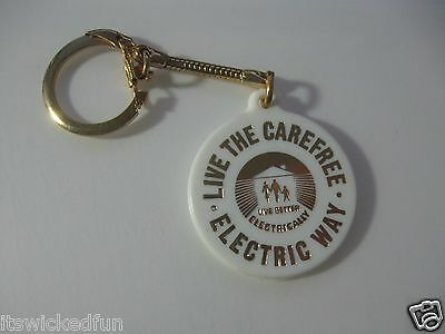 Live Better Electrically Live The Carefree Electric Way Keychain 1970s(?)