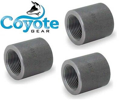 """High Pressure 2/"""" NPT Forged Steel Pipe Thread Half Coupling 3000# Coyote Gear"""