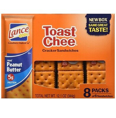 Lance Toast Chee real peanut butter sandwich crackers  8 ct box