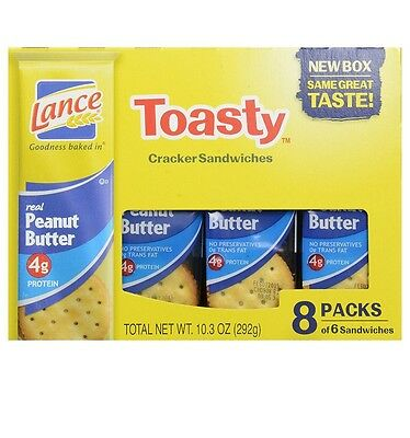 Lance Toasty real peanut butter crackers 8 ct box