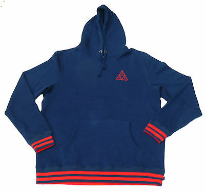 HUF Hooded Sweatshirt Triangle navy red Größe L