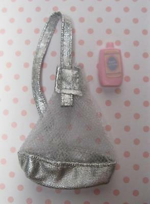 1999 WALKING BARBIE Clothes Access~SILVER BACKPACK for BABY Doll KRISSY STROLLER