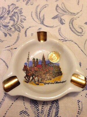 Collectible Grubvom Oktoberfest Ashtray. 3 1/2""