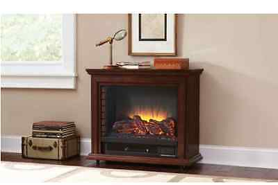 120v Pleasant Hearth Fireplace Glass Screen Sheridan Mobile Caster Roller Cherry