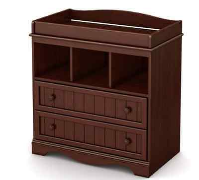 South Shore Savannah Collection Baby Changing Table Brown rounded contours