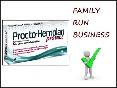 PROCTO-HEMOLAN PROTECT 10 Suppositories Pain Relief Natural Healing Treatment