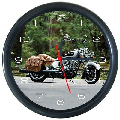 Indian Motorcycles Pattern Design Round Wall Clock New