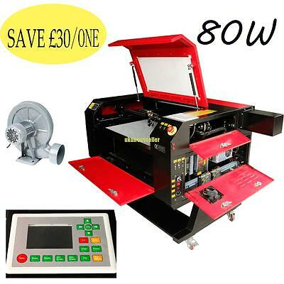 700*500mm 80W CO2 Laser Engraving & Cutting Engraver Wood Cutter color screen