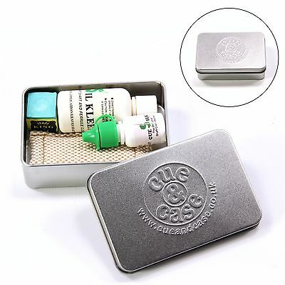 SIL KLEEN & CUE SILK Cleaner & Polish Deluxe GIFT TIN with Shaft Slicker & Chalk