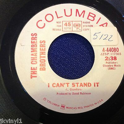 Chambers Brothers-I Can't Stand It-Columbia Promo 4-44080. Ex