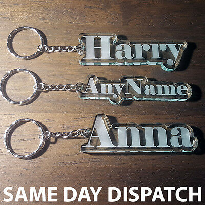 Personalised FROZEN KEYRING KEYCHAIN MADE TO ORDER ANY NAME SCHOOL TAG BAG PLATE