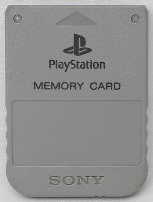 Genuine Sony PlayStation 1 (PS1) PSX Memory Card (Original Gray) SCPH-1020