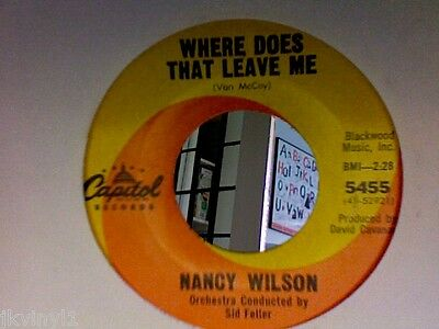 Nancy Wilson-Where Does That Leave Me-Capitol 5455. Ex