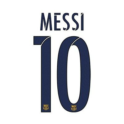 MESSI 10 Barca 2015-2016 Away Football Shirt Print Name Set Number Transfer NEW