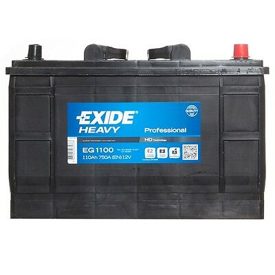 Type 663 Car Battery 750CCA Exide Commercial 12V 110Ah 3 Years Wty Not Sealed