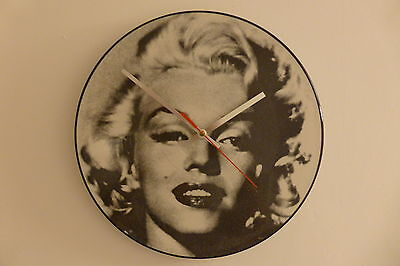 """Marilyn Monroe - When I Fall In Love - 12"""" Picture Disc Clock - Vinyl Record"""