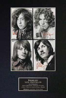 LED ZEPPELIN Signed Mounted Autograph Photo Prints A4 206