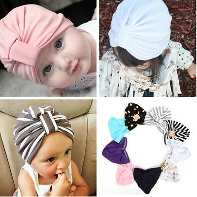 Baby Girls Kids Turban Hat Child Jersey Hat Cotton Soft Baby Turban Beanie Hat