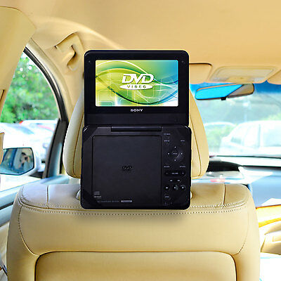 """TFY Car Headrest Mount with strap for Non Swiel Portable DVD Player - 7"""""""