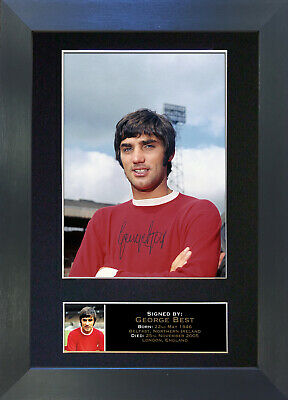 GEORGE BEST Signed Mounted Autograph Photo Prints A4 140