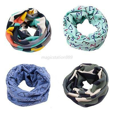 Cartoon Kids Scarf Baby Toddlers Soft Scarves Neck Warps Ring Scarf Neckerchief