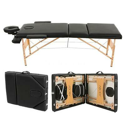 Abody 3 Fold Massage Table 84''L Therapy Massage Bed Facial SPA Tattoo Bed C2E7