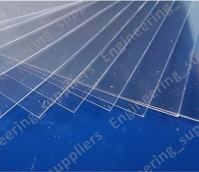 Transparent Crystal Clear 0.15mm 150 micron Thk PVC Plastic Sheet A6, A5 & A4