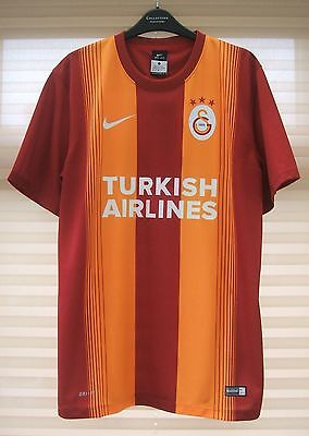 Brand New Genuine Galatasaray 2014/15 Home Shirt C/L + Patch Adults Large