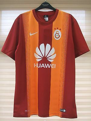 Brand New Genuine Galatasaray 2014/15 Home Shirt + Patch Adults Large