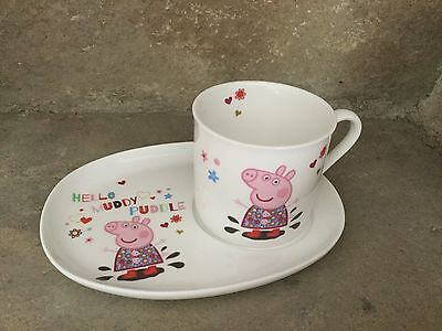 Portmeirion Peppa Pig fine china mug and snack plate gift set