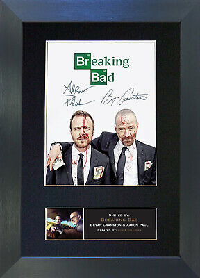 BREAKING BAD No2 Signed Mounted Autograph Photo Prints A4 432
