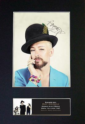 BOY GEORGE Signed Mounted Autograph Photo Prints A4 394