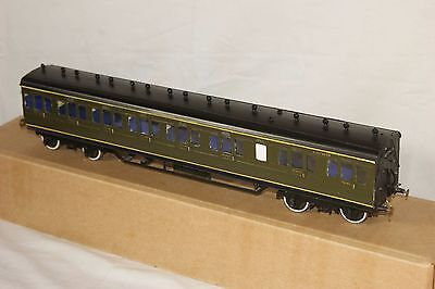 O gauge 7mm KITBUILT Suburban coach SR Southern Railway Green DJB models BRASS
