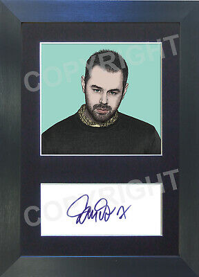 DANNY DYER Eastenders Pop Art Signed Mounted Autograph Photo Prints A4
