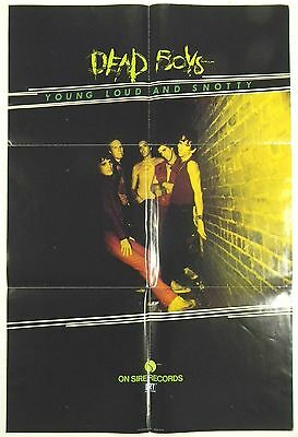 original DEAD BOYS Stiv Bators Young Loud And Snotty Sire punk promo poster 1977