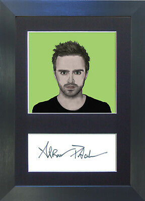 AARON PAUL Breaking Bad Pop Art Signed Mounted Autograph Photo Prints A4