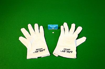 Official Snooker Referee's White Gloves RILEY, FREE Chesworth Cues Ball Marker