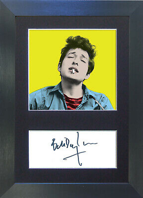 BOB DYLAN Pop Art Signed Mounted Autograph Photo Prints A4