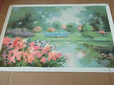 vintage impressionist hand oil painting oil on canvas french spring seine [36''x