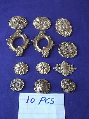 10 Piece Antique / Vintage Bronze French Furniture Ormolu