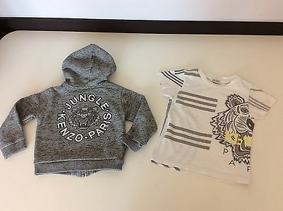 KENZO Boys 2 Piece hoodie & T Shirt Age 3 Years / 94 Tiger Face Outfit Set