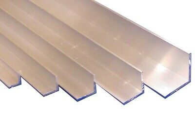 "16th Aluminium Equal Right Angle ""L"" Section 3/8"", 1/2"", 5/8"", 3/4 & 1"" wide"