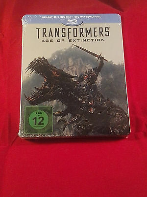 Transformers: Age of Extinction 2D/3D Blu-Ray limited Steelbook,Region Free