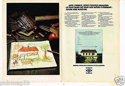 Maison Phenix Publicité Advertising 1984 2 Pages