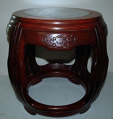 Chinese Rosewood stand hand carved bats