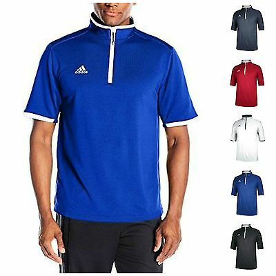 adidas Men's CLIMALITE Shockwave Quarter Zip Jacket Shirt Golf Coaching Pullover