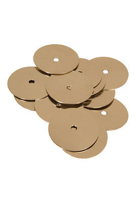 """Mid-East 1 11/16"""" Tambourine Jingles Brass 100 Pack BLEMISHED"""