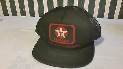 Snap Back Texaco Hat Quality Lubricants Red Black And White Vintage 1970-80's