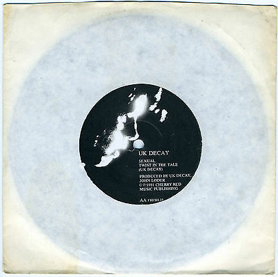 "UK DECAY 'Sexual' / 'Twist In The Tale' 1981 gothic 7"" new unplayed"