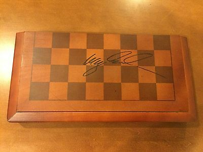 Chess World Champion Magnus Carlsen Signed Board Autographed